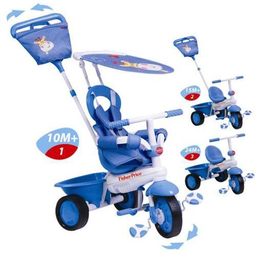 Tricicleta 3 in 1 Elite - albastra