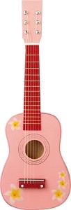 Chitara roz cu flori New Classic Toys