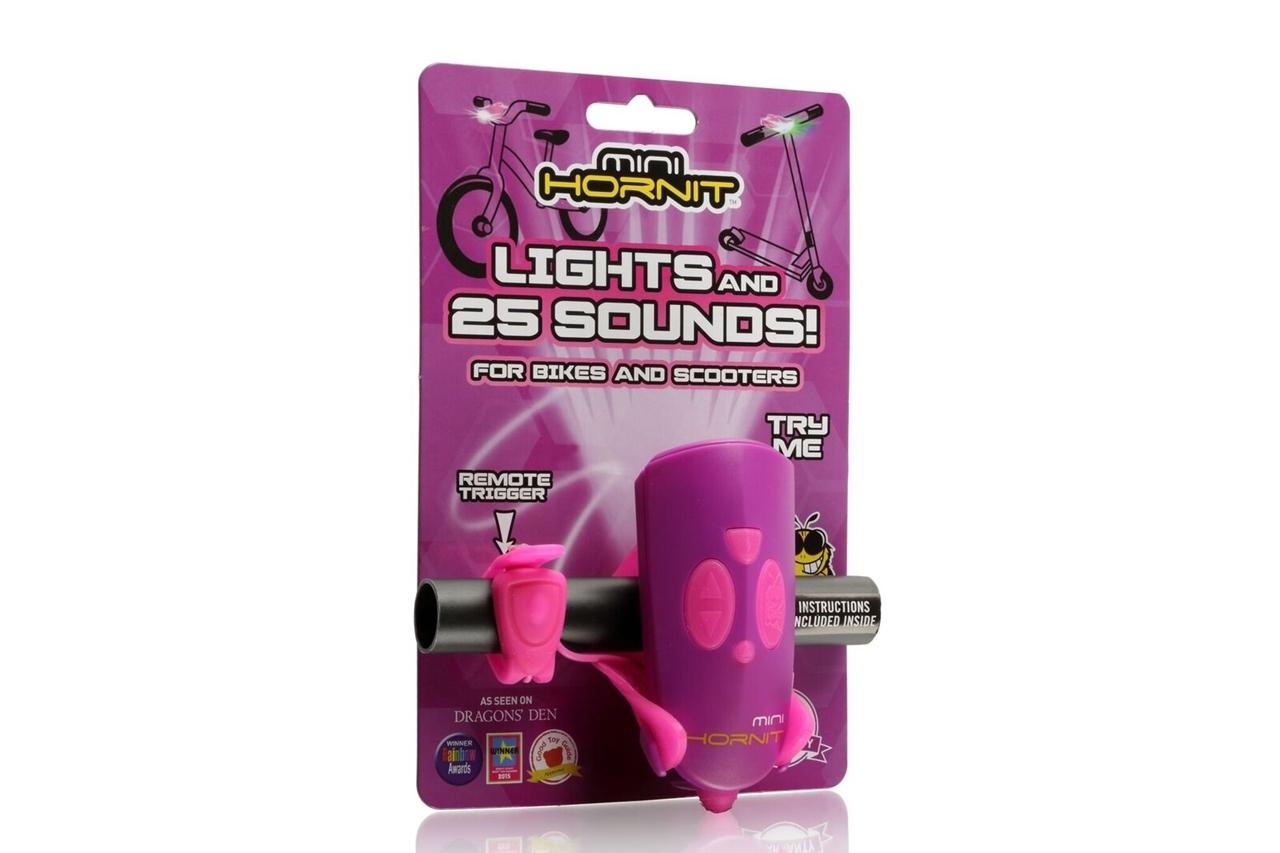 Claxon Mini Hornit cu lumina - roz si mov