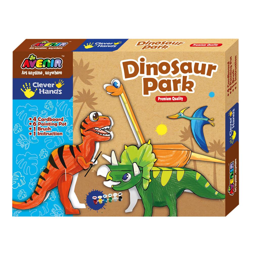 Joc creativ de colorat - Dinozauri - Bino