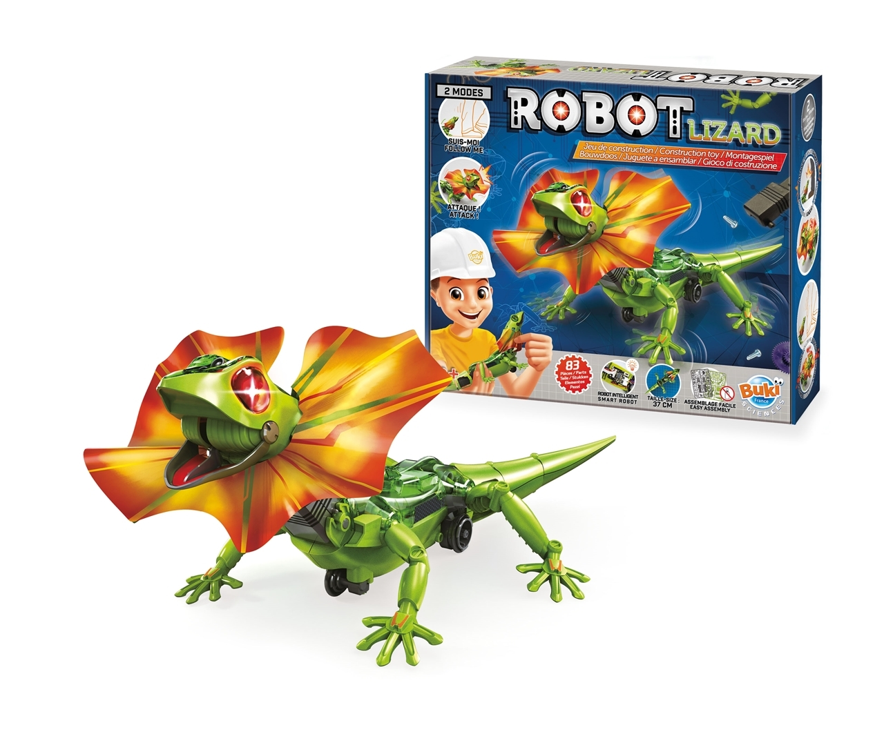 Joc de constructie - Robotul LIZARD - Buki