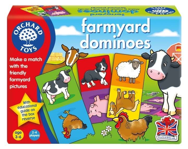 Joc educativ Domino Ferma - Farmyard Dominoes - Orchard Toys