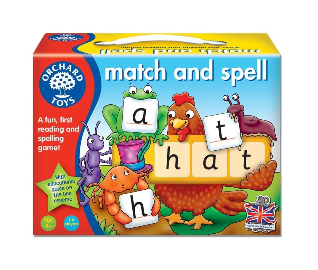 Joc educativ in limba engleza Potriveste si Formeaza cuvinte - Match and Speel - Orchard Toys