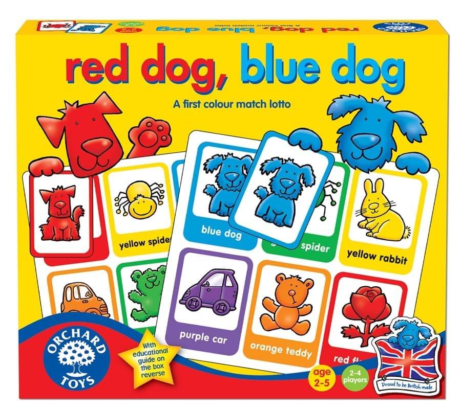 Joc educativ loto in limba engleza Catelusii - Red Dog, Blue Dog - Orchard Toys