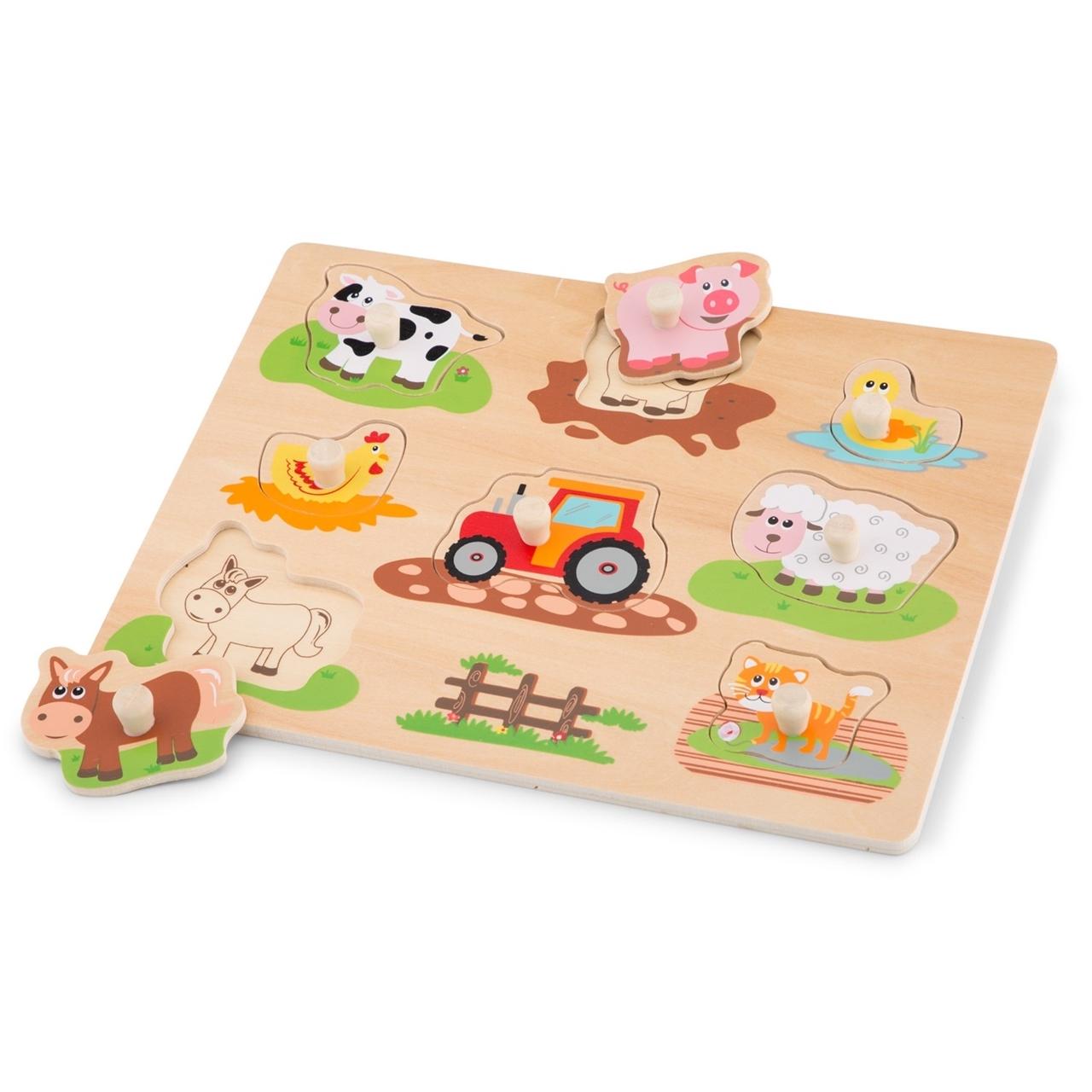 Puzzle lemn Ferma - New Classic Toys