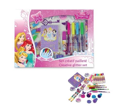 Set creativ cu sclipici 30 piese Disney Princess - D`Arpeje