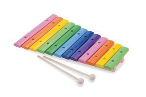 Xilofon lemn - 12 note colorate - New Classic Toys
