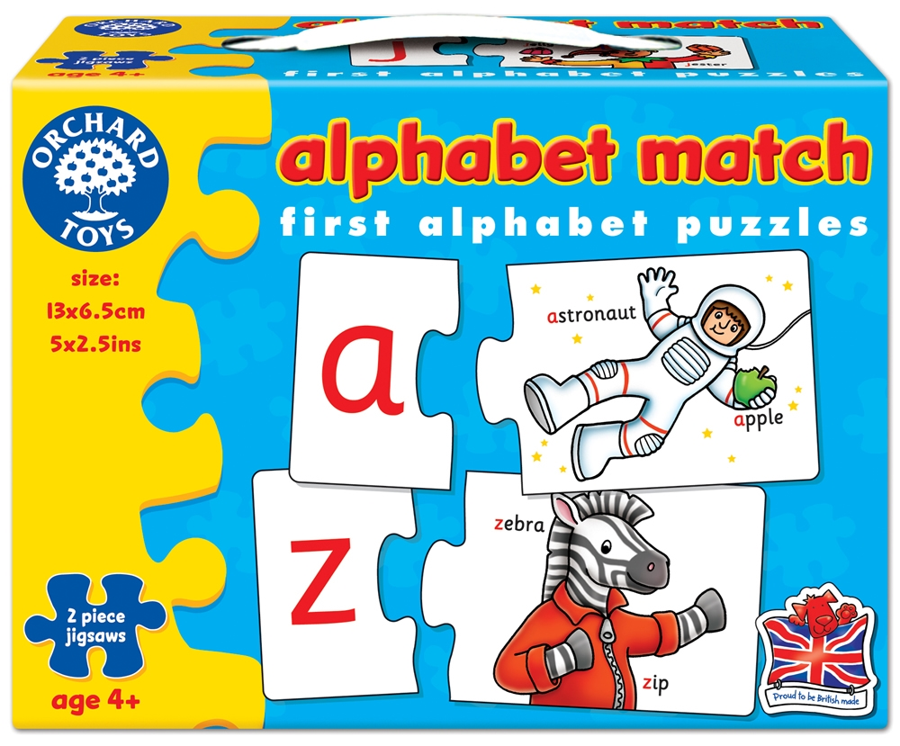 Alfabetul - asociere (limba engleza) - Alphabet Match - Orchard Toys
