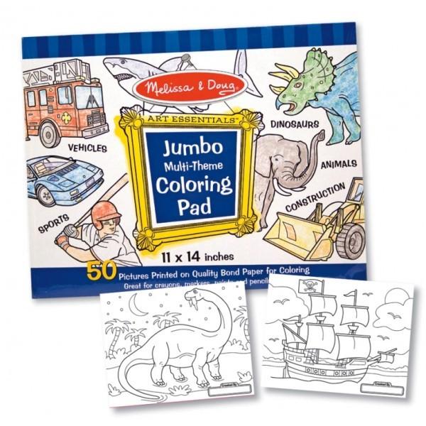 Caiet jumbo cu desene pentru colorat - Albastru
