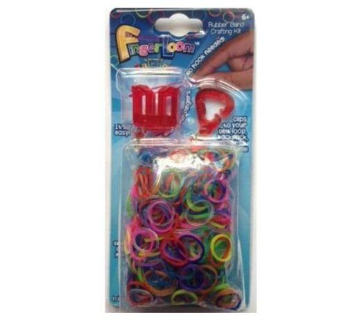 Finger Loom + 600 Elastice Mix - Rainbow Loom
