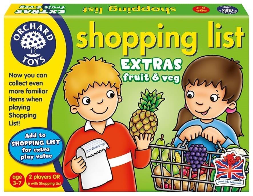 Lista de cumparaturi - Fructe si legume - Orchard Toys