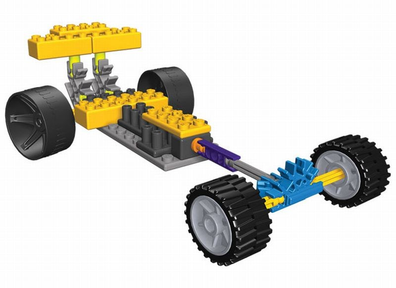 Masina de curse Dragsters 2 KNEX