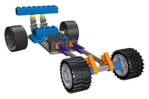 Masina de curse Dragsters 3 KNEX
