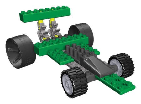 Masina de curse Dragsters 4 KNEX
