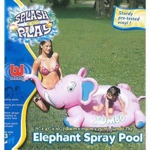 Minipiscina elefant cu stropitoare