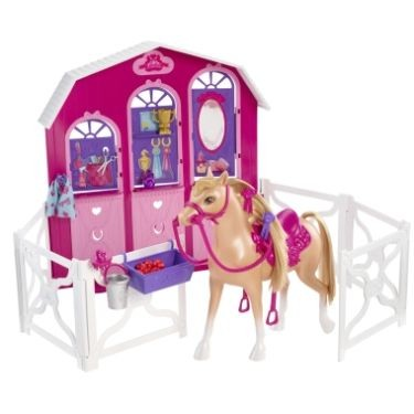 Papusa Barbie si surorile ei - Calut si grajd