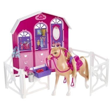 Papusa Barbie si surorile ei - Calut si grajd - Mattel
