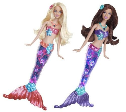 Papusa Barbie Sirena Sclipitoare - Blonda