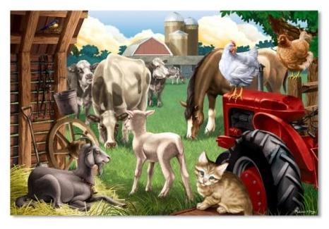 Puzzle de podea - Prieteni la ferma