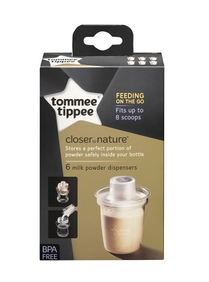 Recipiente lapte praf Tommee Tippee Closer to Nature - 6 buc.