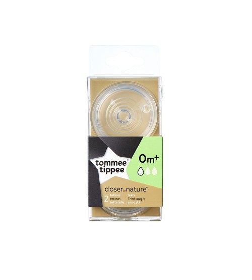 Set 2 tetine Tommee Tippee Closer to Nature - flux lent