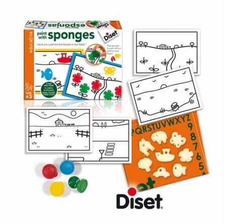 Set creativ Paint with sponges - Picteaza cu bureti - Diset