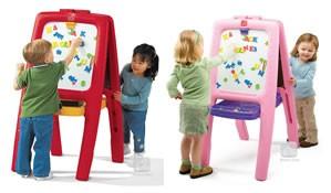 Tabla dubla pentru copii - Easel for Two (rosu) STEP2