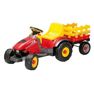 Tractor Farm Animals cu remorca