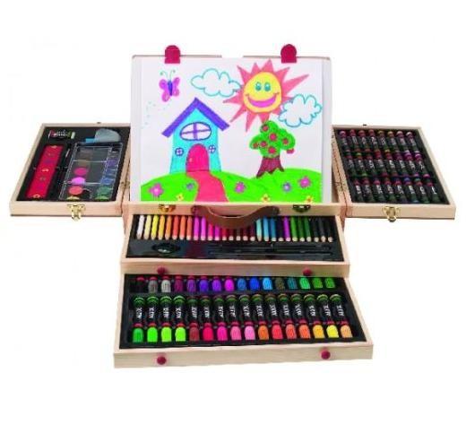 Trusa de creatie in cutie din lemn - Alex Toys