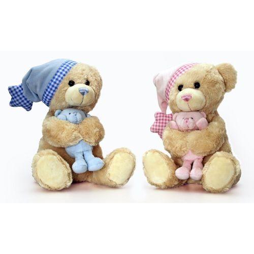 Ursulet muzical mama-copil Keel Toys